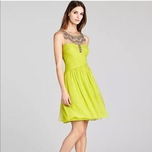 NWT BCBG Lemon Julissa Beaded Cocktail Dress 6